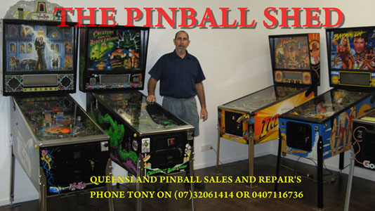 Pinball Shed, Pinball Machines And Parts For Sale, Brisbane, Australia